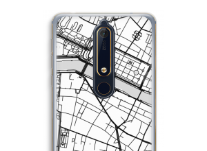 Put a city map on your Nokia 6 (2018) case