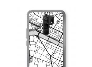 Put a city map on your Xiaomi Redmi 9 case