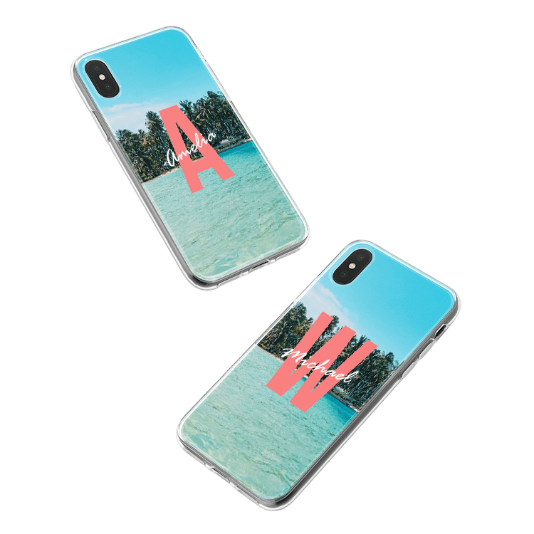 Put your monogram on a Samsung Galaxy J8 (2018) smartphone case